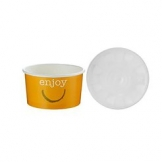 7oz Enjoy Food container c/w Lid 250 Per Case