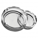 Small Clear Stackable Ashtray 4.25 inch10.7cm (24 pcs)