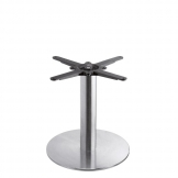 Boston - Brushed Steel Small Round Coffee Table Base (Max Top Size: 80cm dia or 70cm x 70cm)