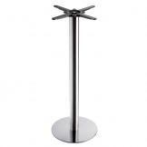 Boston - Brushed Steel Small Round Poseur Table Base (Max Top Size: 75cm dia or 70cm x 70cm)
