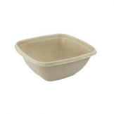 375ml Deep Square Bagasse Bowl 500 Per Case