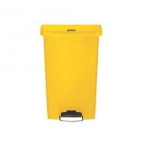 Slim Step-On Bin Front Step 50 ltr Yellow (Sold Singly)