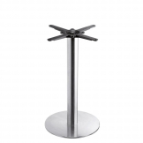 Boston - Brushed Steel Small Round Dining Table Base (Max Top Size: 80cm dia or 70cm x 70cm)