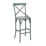 Cafe Bar Stool - Vintage Blue