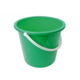 Plastic Bucket 10ltr Green (Sold Singly)