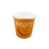 24oz Enjoy Food container c/w Lid 250 Per Case