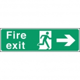Safety Sign Fire Exit Right Arrow (Sold Singly)