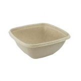 500ml Deep Square Bagasse Bowl 500 Per Case