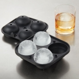American Metalcraft Ice Mould, Silicone, 4-Spheres