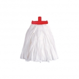 Prairie Big White Kentucky Mop Head Red (Sold Singly)