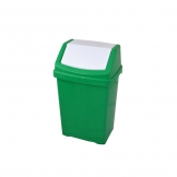 50l Plastic Swing Top Bin Green (Sold Singly)