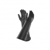 Ansell Emperor Large 610mm Black Rubber Gloves Pair (2 pcs)