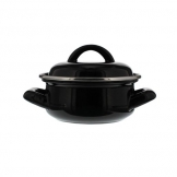 Artis Casserole Dish and Cover Black 10.5oz, 30cl
