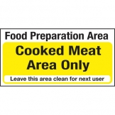 Kitchen Food Safety Cooked Meat Area only (Sold Singly)