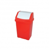 50l Plastic Swing Top Bin Red (Sold Singly)