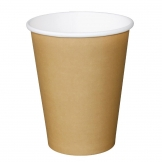 Fiesta Single Wall Takeaway Coffee Cups Kraft 340ml / 12oz x 50 (Pack of 50)