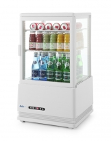 Hendi Refrigerated display cabinet 58L (white)