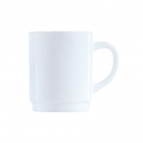 Plain White Opalware Mug Glass 28cl (36 pcs)
