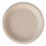 Eco-Fibre Compostable Wheat Round Plates 180mm (Pack of 1000)