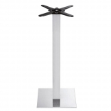 Boston - Brushed Steel Small Square Poseur Table Base (Max Tope Size: 75cm dia or 70cm x 70cm)