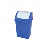 50l Plastic Swing Top Bin Blue (Sold Singly)