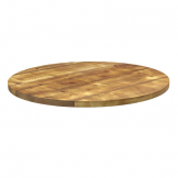 Rustic Aged Solid Wood Table Top - 1200Dia x 32mm
