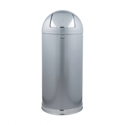 Rubbermaid Easy Push Bin Galvanised Steel 56ltr