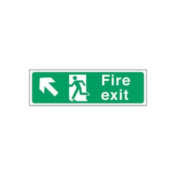 Fire Exit Left Up Arrow Sign (Sold Singly)