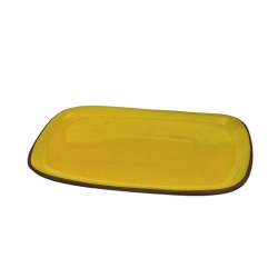 ABS Pottery 37cm x 27cm Rectangular Platter Yellow