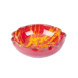 Manoli Speckle 29cm Wavy Bowl Red & Yellow Speckle (Sold Singly)
