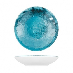 Creative Blue Larnaca Sand Melamine Couple Bowl 185x40mm