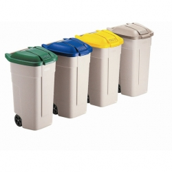 Rubbermaid Wheelie Bin Beige 100ltr