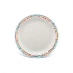 Harfield Duo Plate Narrow Rim Multi Swirl 23cm Polycarb