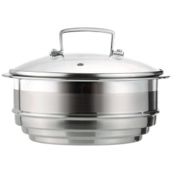 3-Ply Stainless Steel Multi Steamer With Glass Lid (Sold Singly)