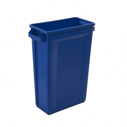 Svelte Bin with Venting Channels 60L, Blue (Sold Singly)