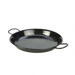 Black Enamel Paella Pan 30cm (Sold Singly)