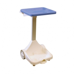Plastic Sack Holder With Wheels Blue Lid (Sold Singly)
