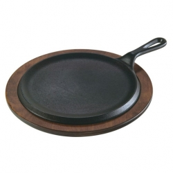 Lodge Griddle Handled Black Cast Iron Round 23cm