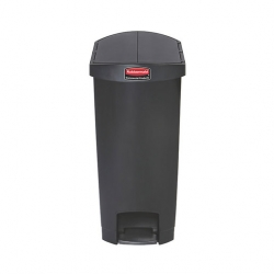 Slim Step-On Bin End Step 50 ltr Black (Sold Singly)