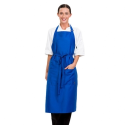 Brigade Adjustable Neck Bib Apron Blue