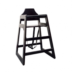 Black High Chair Assembled