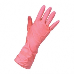 Keep Clean Rubber Household Gloves Pink XL (24 pcs)