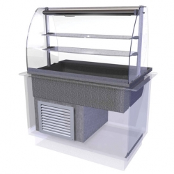 CED Fabrications CED Designline Cold Multi Level Deli - 4/1 GN