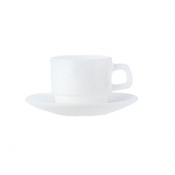 Plain White Opalware Cup Stackable Glass 25cl (36 pcs)
