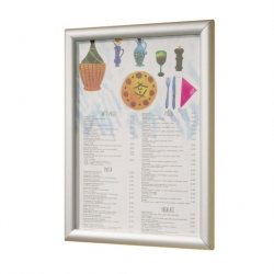 A2 Poster Frame Brushed Aluminium 44.5 x 62.5cm (Sold Singly)