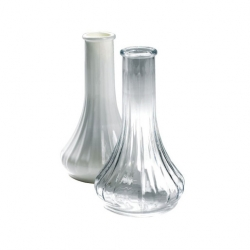 Bud Vase White Polycarbonate 15cm (Sold Singly)