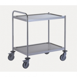 Tournus Equipement Clearing Trolley with 1 Handle - 2 Tray 800x530mm