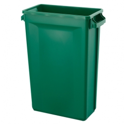 Svelte Bin with Venting Channels 87L, Green (Sold Singly)