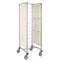 Tournus Equipement Self-Service Tray Trolley with Side Panels - 12 Tier