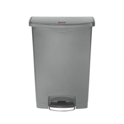 Slim Step-On Bin Front Step 90 ltr Grey (Sold Singly)